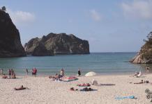Playa de La Franca, en Asturias