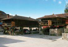 Güeñu, el pueblo con más hórreos de Asturies